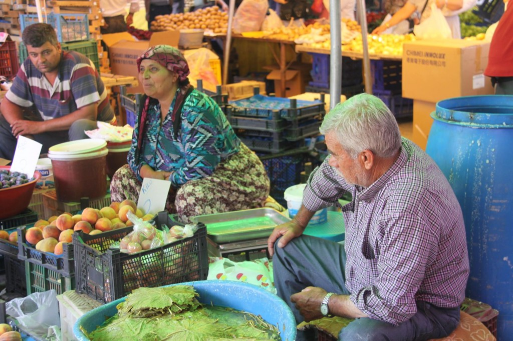 Vine Leaves for the Turkish Dolamades are Sold on Many Stalls Here