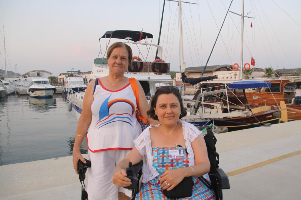 During a Walk I was Happy to Meet Mother and Daughter Visiting the Marina