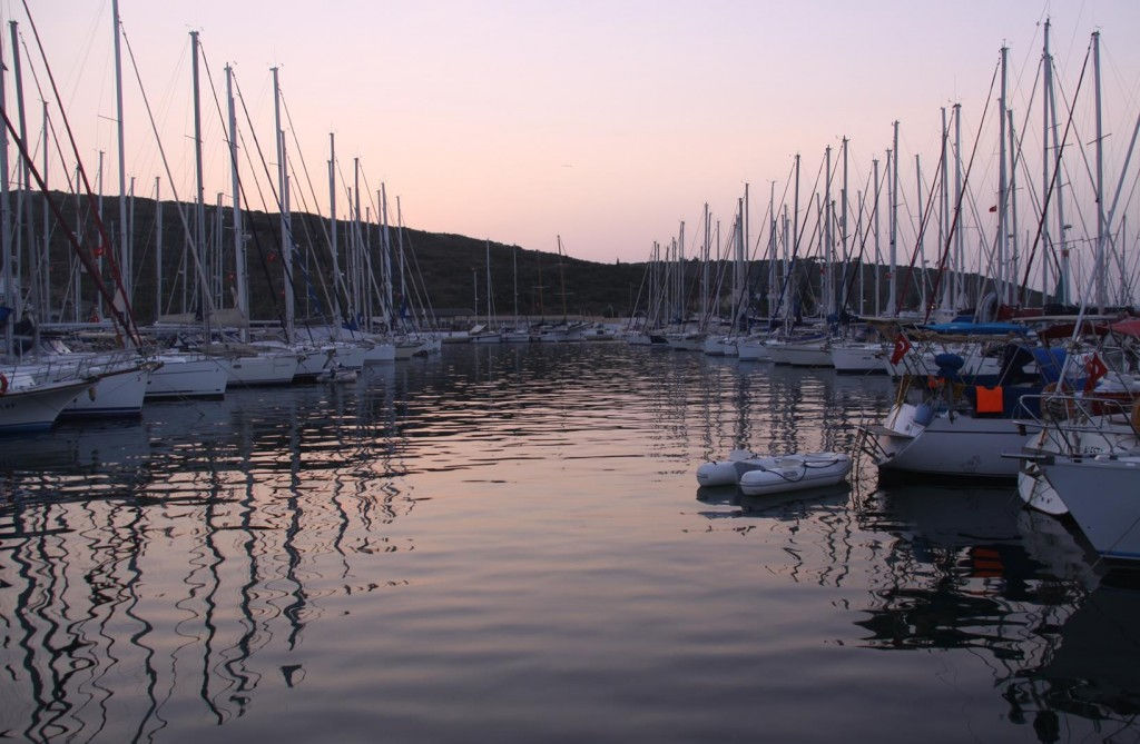 Sunset at the Teos Marina