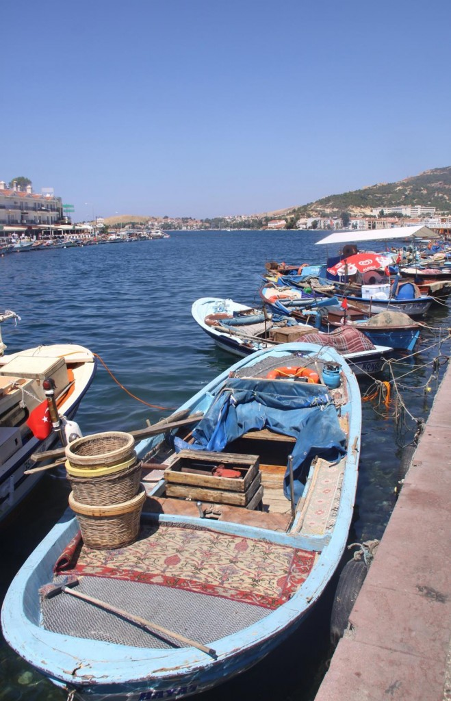 Hundreds of Small Colourful Fishing Boats Line the Shore of Kucukdeniz Limani