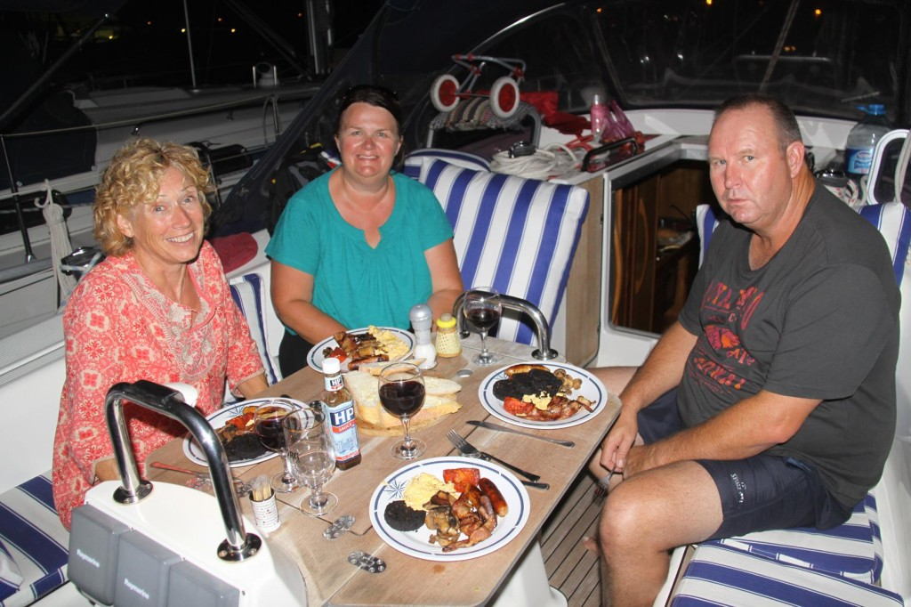 English Breakfast with Gill Aboard Local Australian Residents Alec and Angela's Yacht
