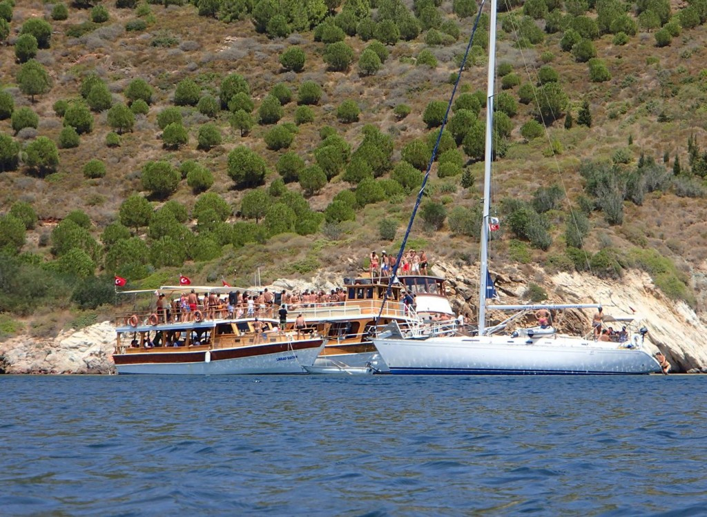 The Young People on the Visiting Yacht Joined in with the Dancing