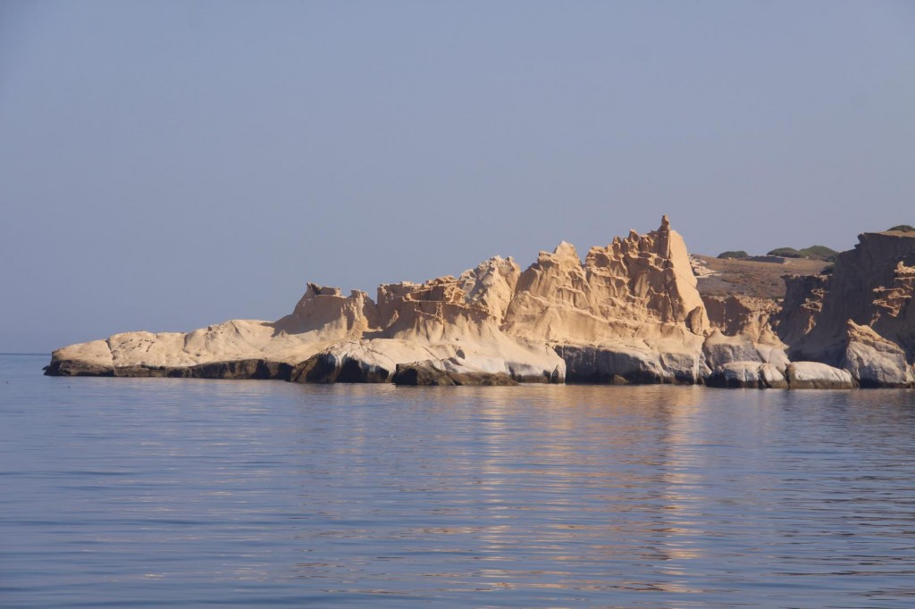The West Coast of Orak Adasi has the Most Amazing Moonlike White Rock Formations
