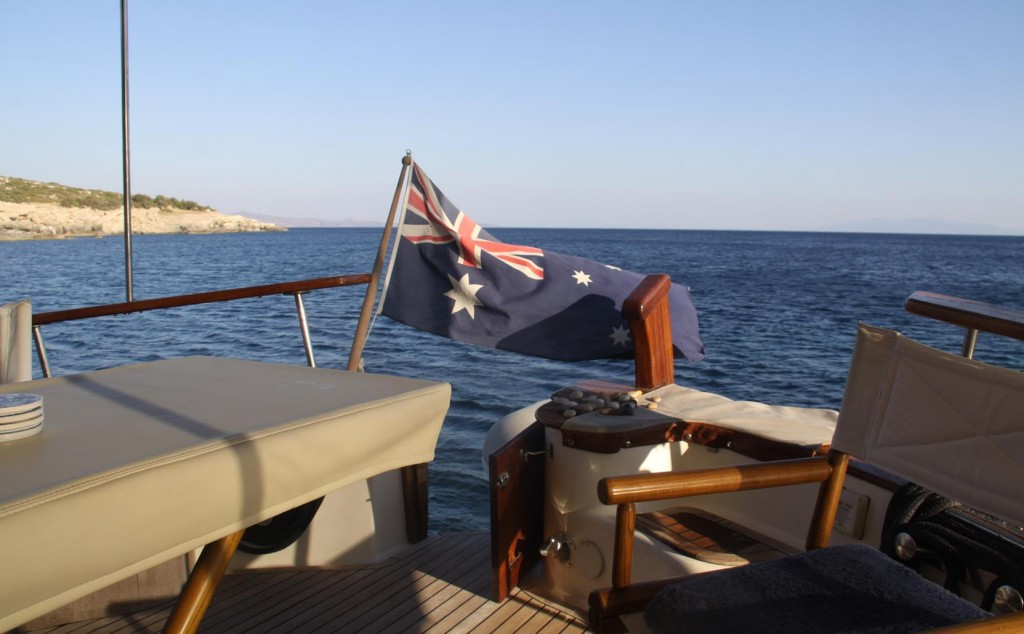 What a Lovely Outlook for Drinks Tonight (Beyond Our Patriotic Flag)