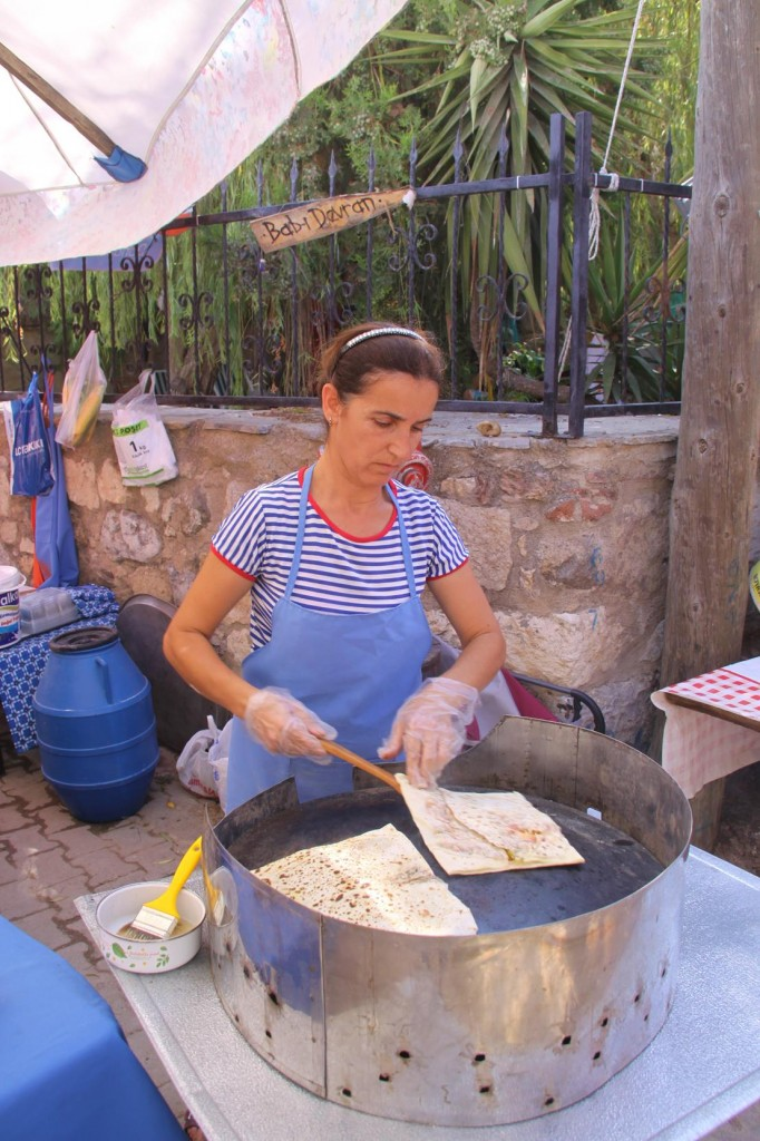 Pancakes with Cheese and Herbs Always a Favourite in Turkey