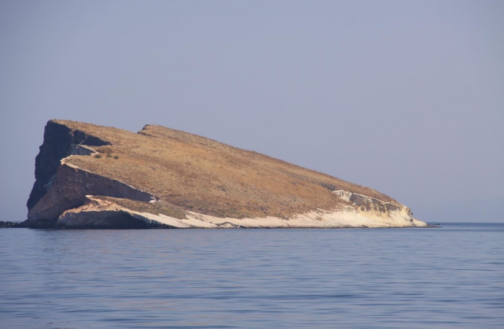 The Unusual Flat  Tilted Island of Ataturk Adasi Appears to Rise Out of the Sea