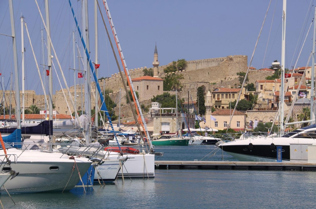 The Very Centrally Positioned Cesme Marina with the Fortress Nearby
