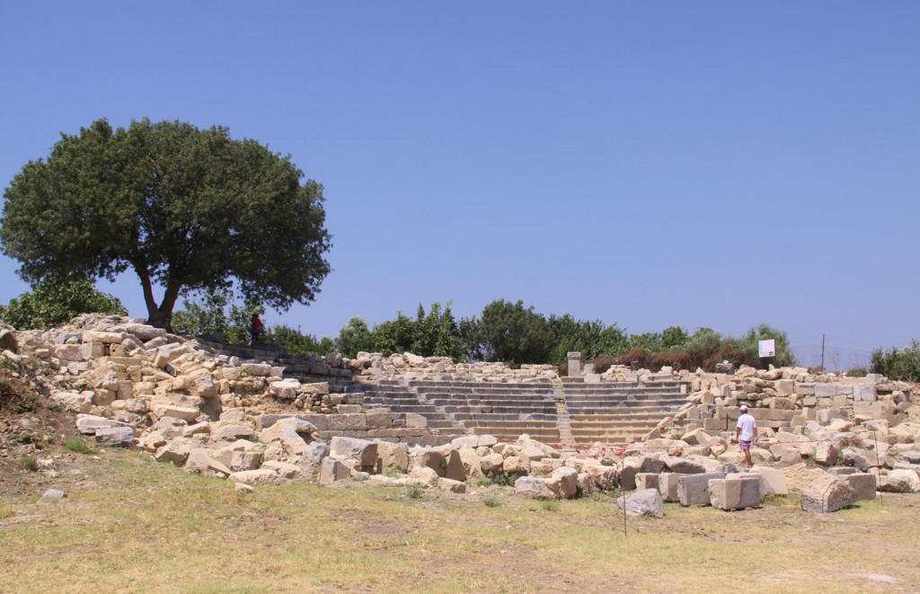 The Ancient Bouleuterion at Teos Which Dates Back to the 2nd Century BC is Undergoing some Restoration at the Moment