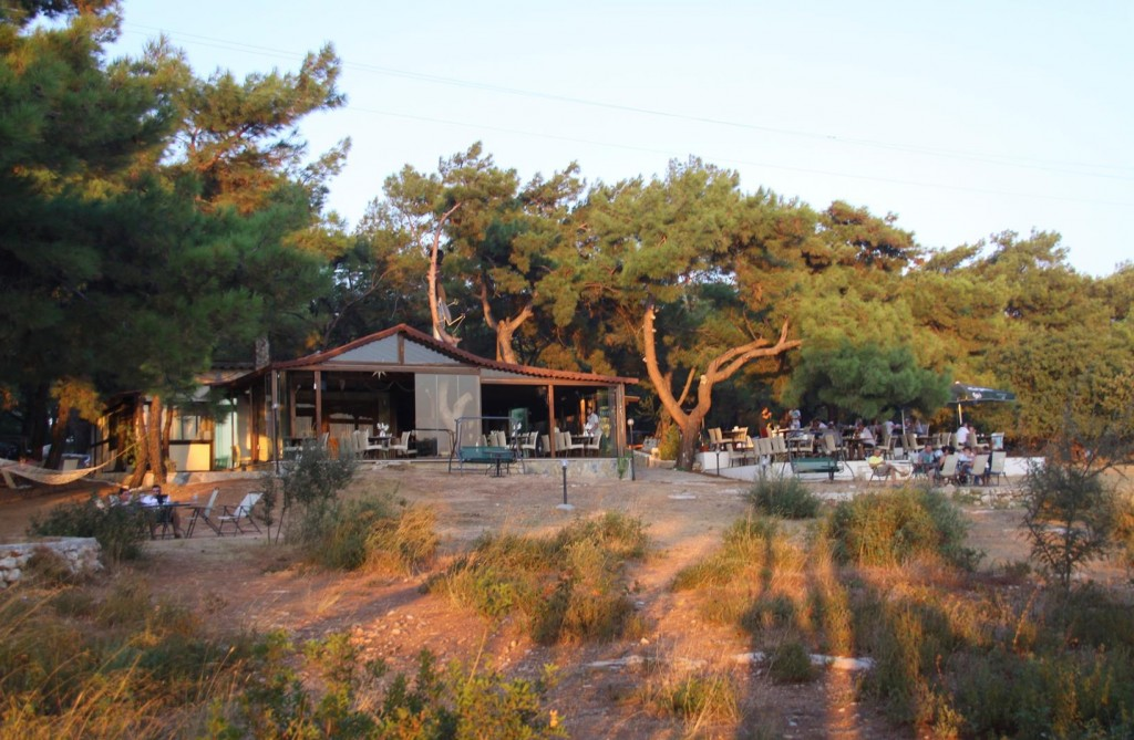 Teos Park Restaurant has a Wonderful Setting Amoungst Trees Overlooking the Water
