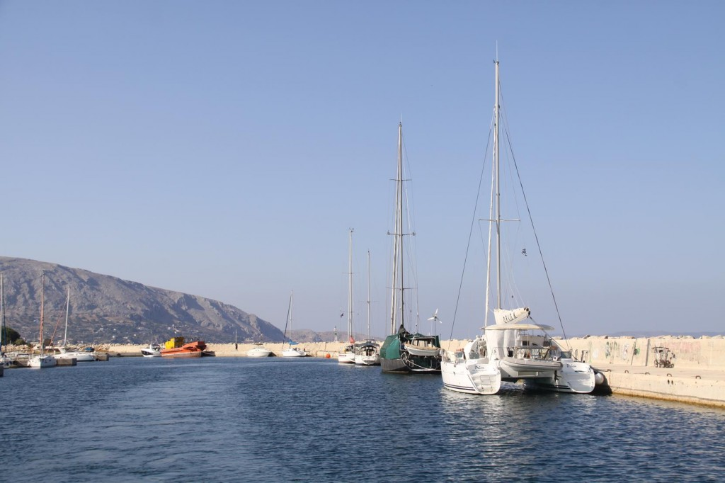 The Khios Marina is Just North of Khios Town and Unfortunately is in a very Neglected State