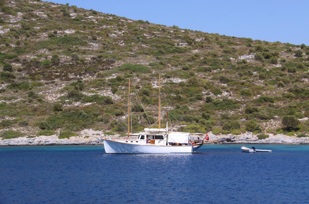 Also Moored Together in the Bay were Two Delightful Wooden Boats