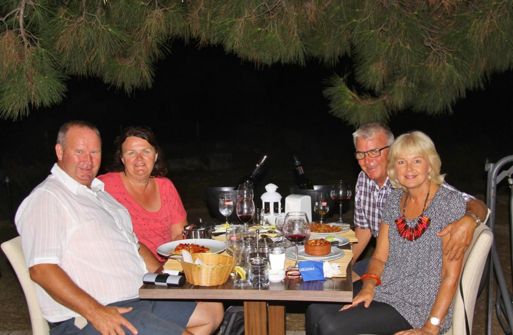 Sitting Under the Trees Tonight with Our New Australian Friends, Alec and Angela who Live in Sigacik