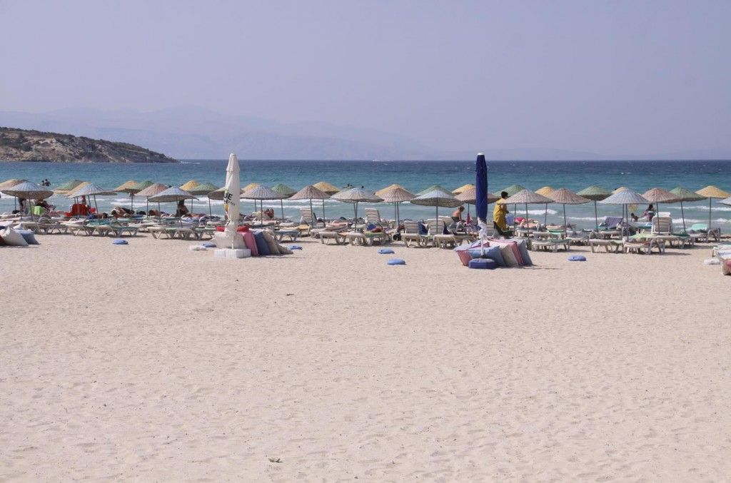 Many of the Beaches in the Cesme area have Beautiful White Sand