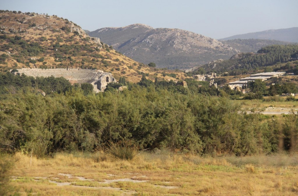 On Our Return to Sigacik we Pass Ephesus in the Distance