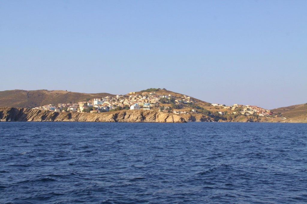Continuing Past Mandraki Town we Look for a Quiet Bay so we can Swim