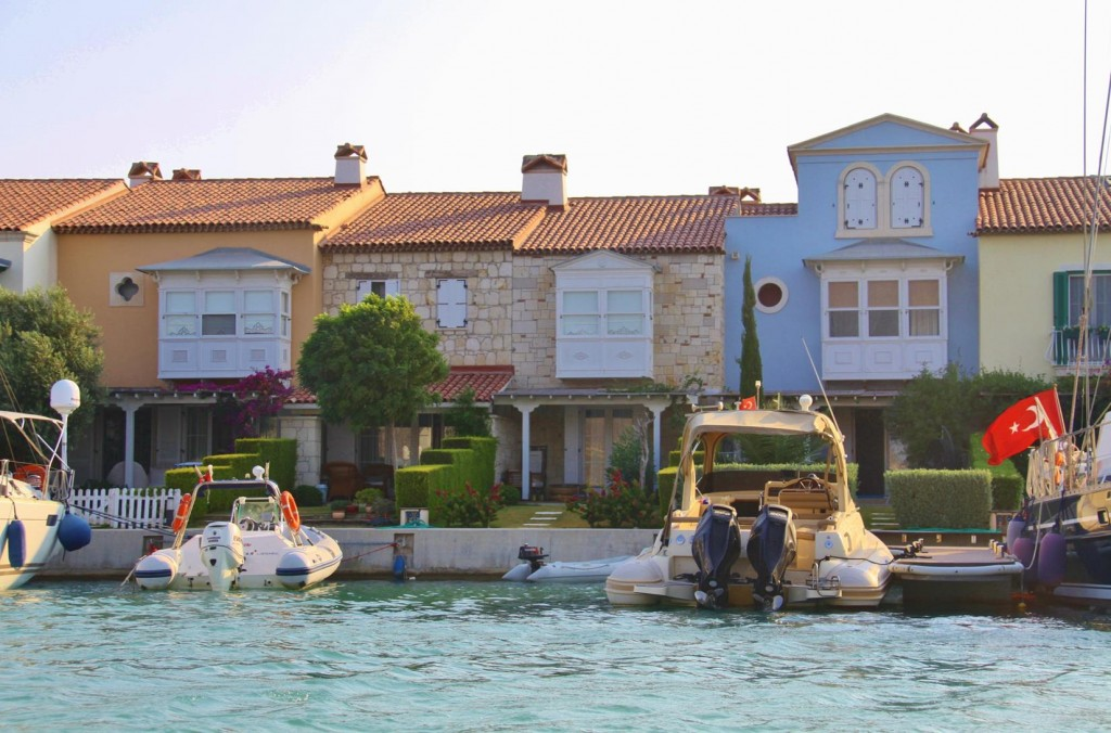 The Houses are Built Side by Side, are All Different and have Their Own Mooring at the Front Door