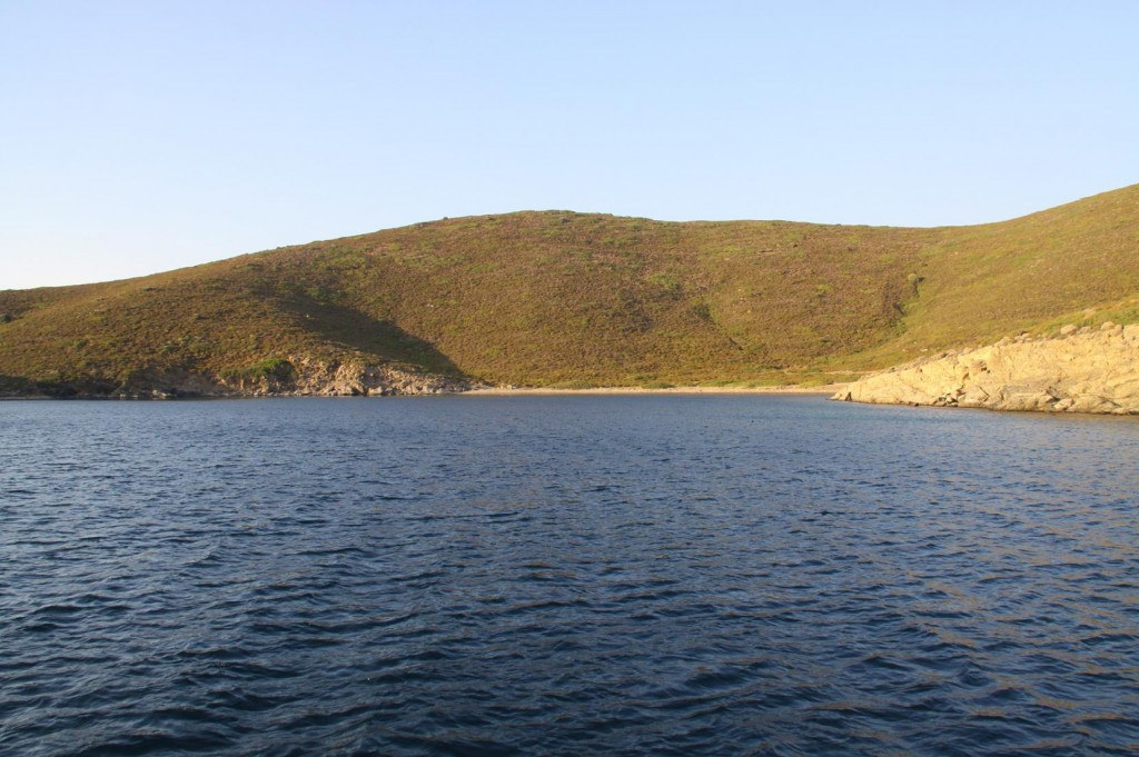 The Bay we Choose to Drop Anchor has a Beach and the Church on the Hill