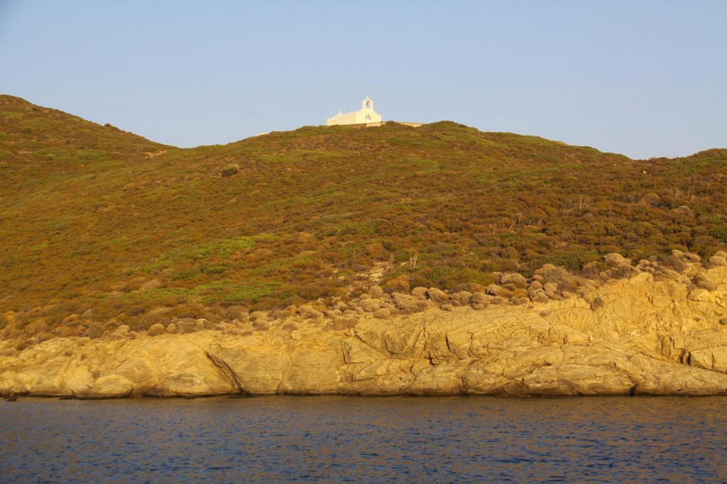 The Church on the Hill in the Fading Sun