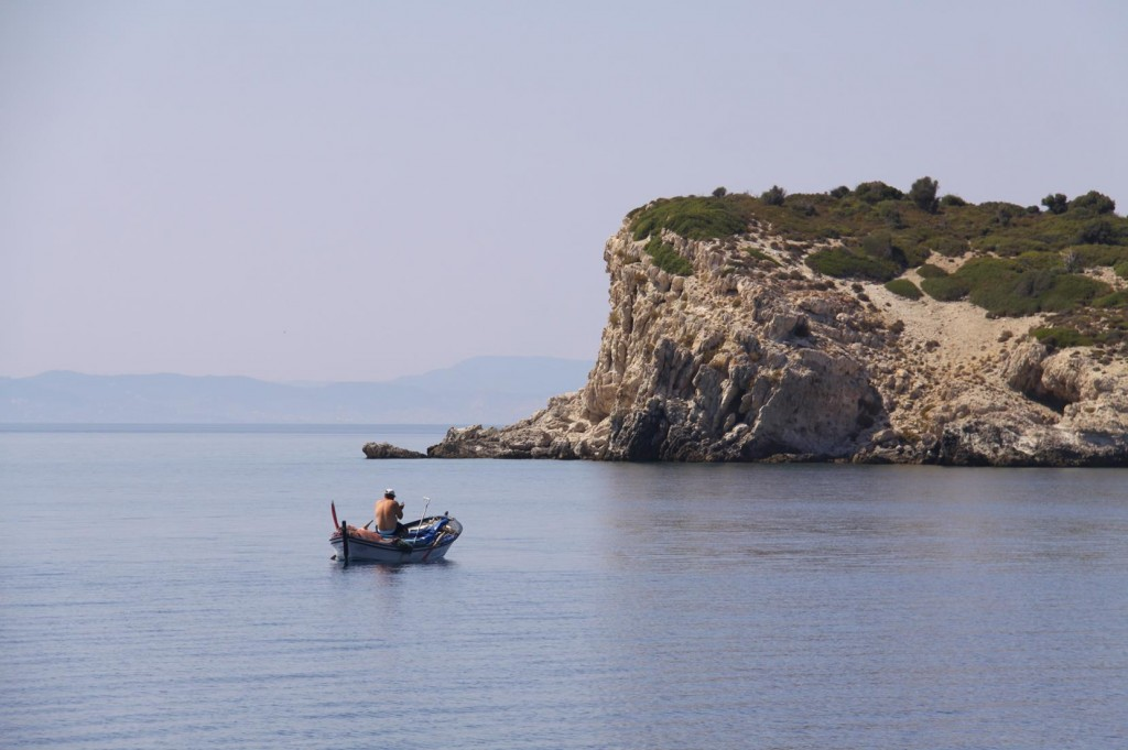 Lone Fishermen in their Tiny Boats Come and Quietly Fish in this Lovely Channel
