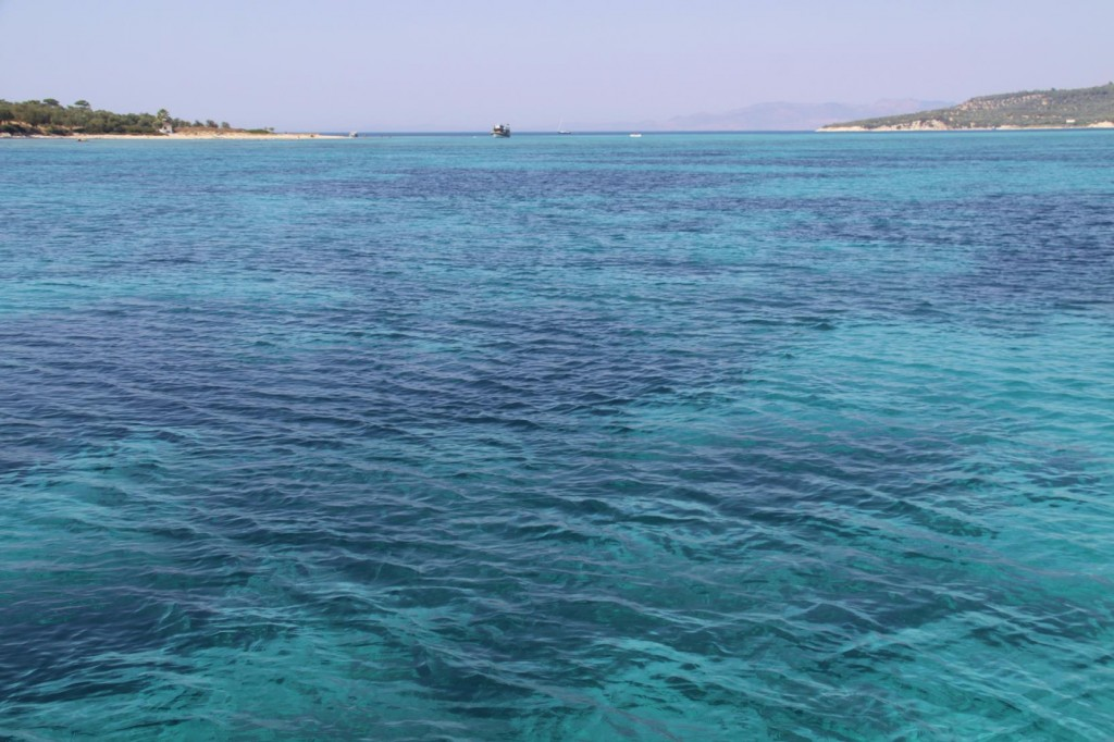 We Approach the Crystal Clear Water Between the Islands of Garipadasi and Kalem by Bademli Limani