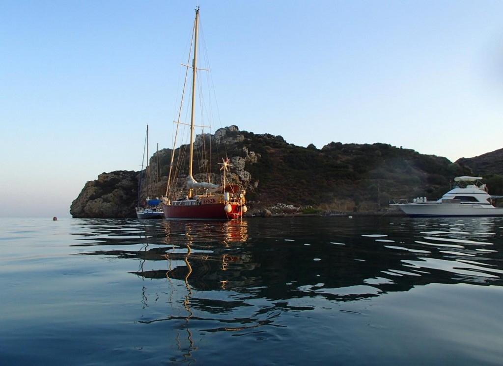 Emborios Bay is Quite Small and has very Little Room for a Boat Swinging on Anchor