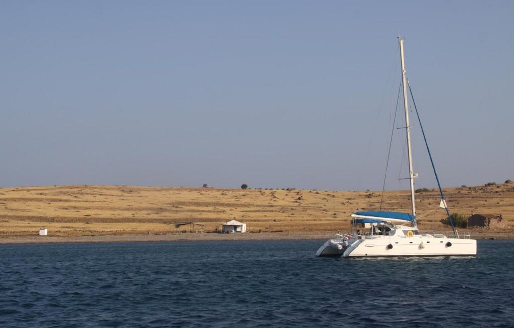 Overnight a Catamaran had Come into the Bay