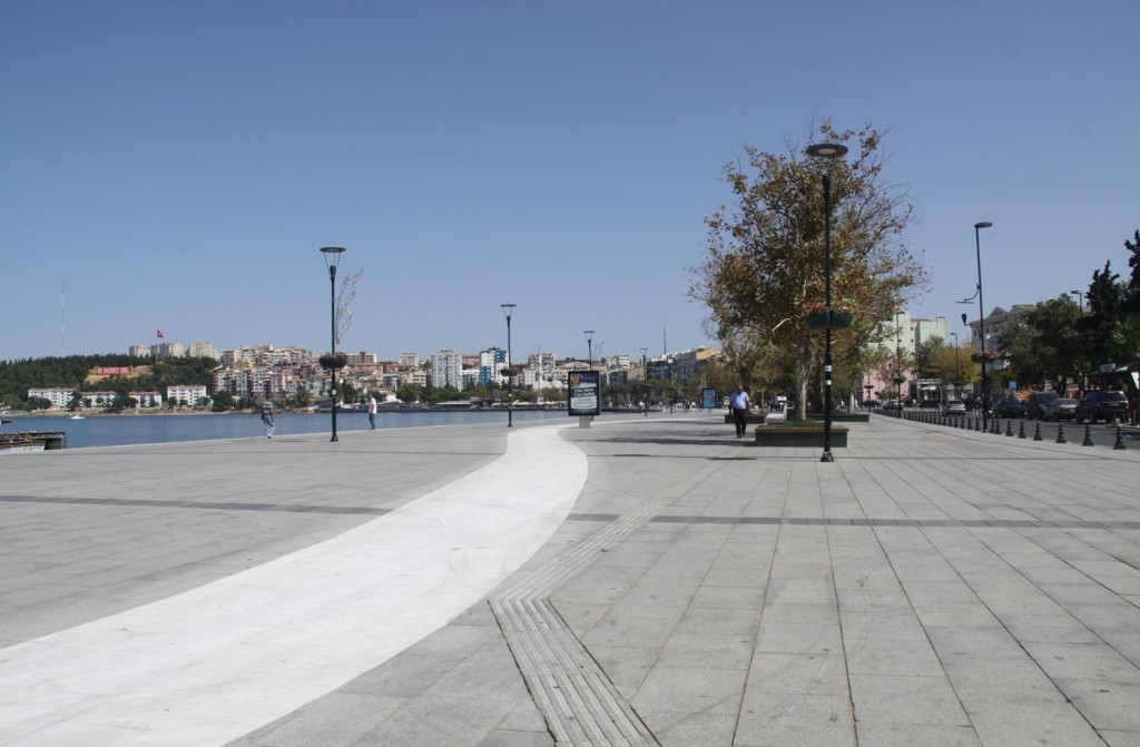 The Large Open Space of the Town Square in Canakkale