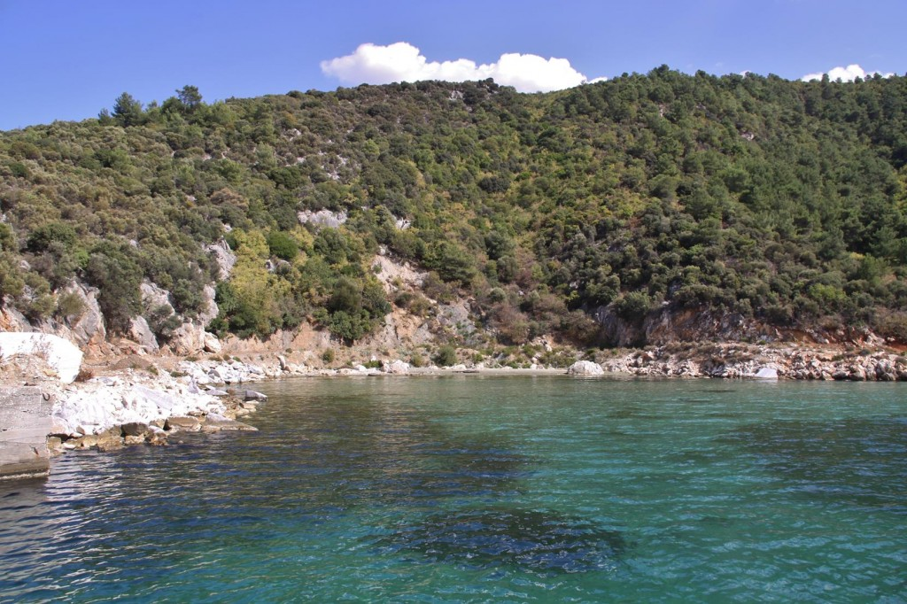 A Wonderful Bay for Us to Stop for a While and Go for a Swim
