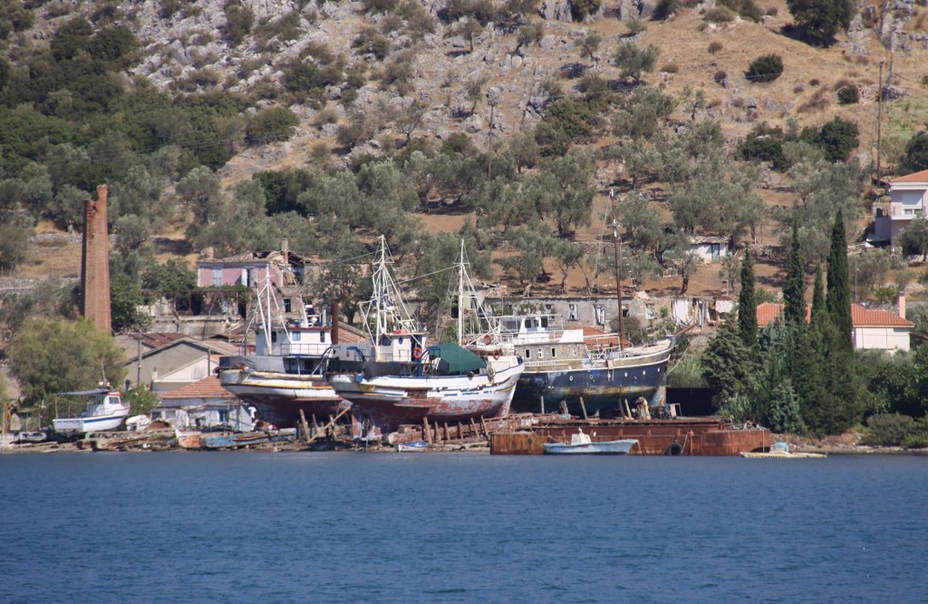 Tucked into a Corner of the Bay is a Boat Yard