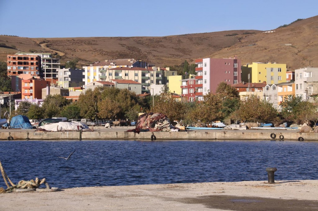 Large Piles of Old and New Nets Litter the Quays in the Cakilkoy Harbour