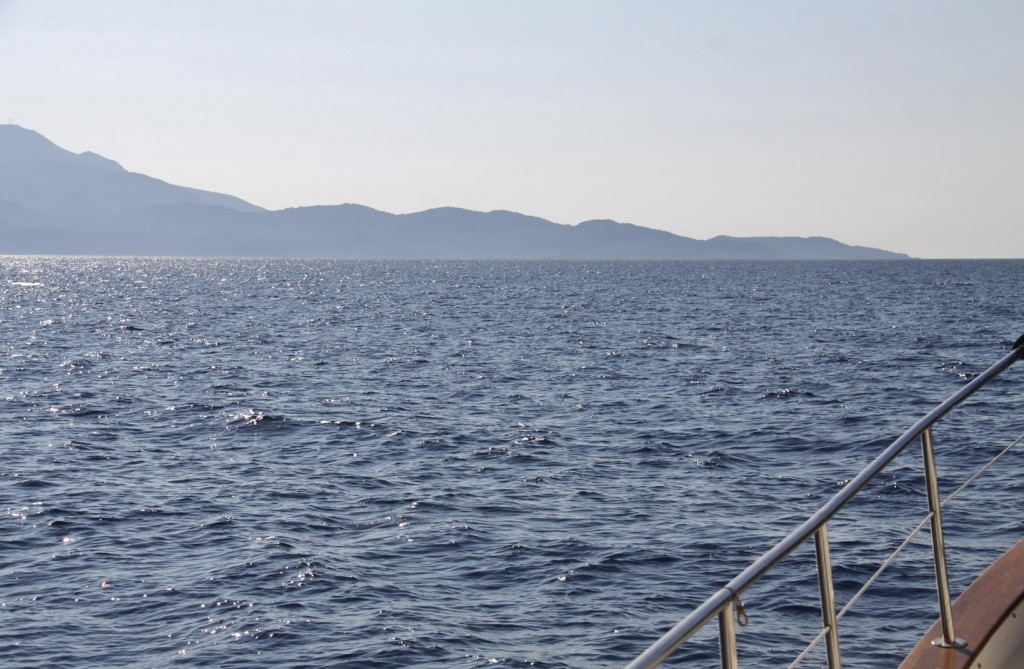 Crossing the Short Distance to Lesvos Island we Motor to the North Eastern Tip in Calm Conditions