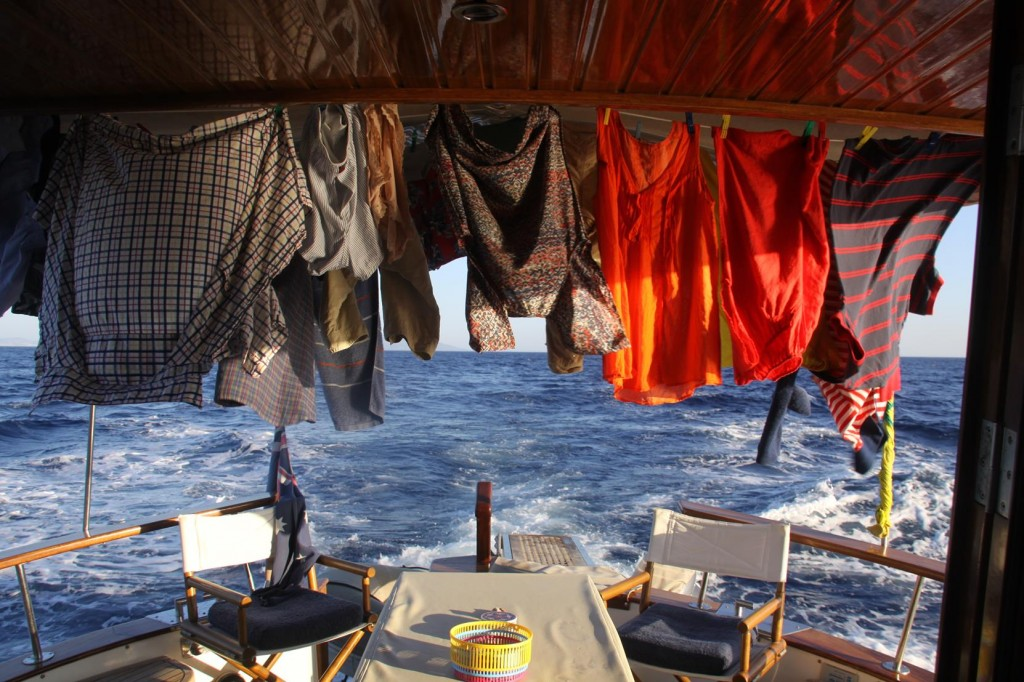 With the Washing Done and Hung Out we Started our 20 Nautical Mile Trip to the Ayvalik Archipelago