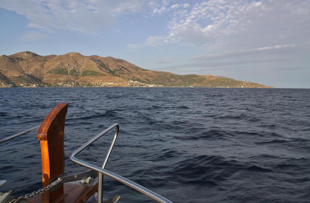 As we Approach Marmara Island, the Major Port of Marmara comes into View