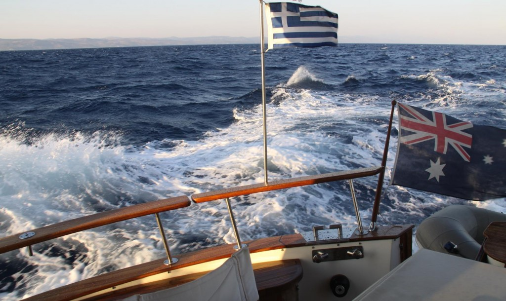 The Tangaroa Handled Herself very well Under these Windy Conditions