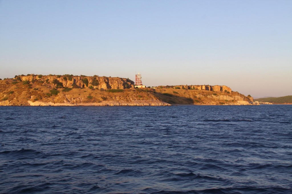 On Our Approach to the Archipelago the Late Afternoon Sun Glowed on the Cliffs of the Mainland Shore