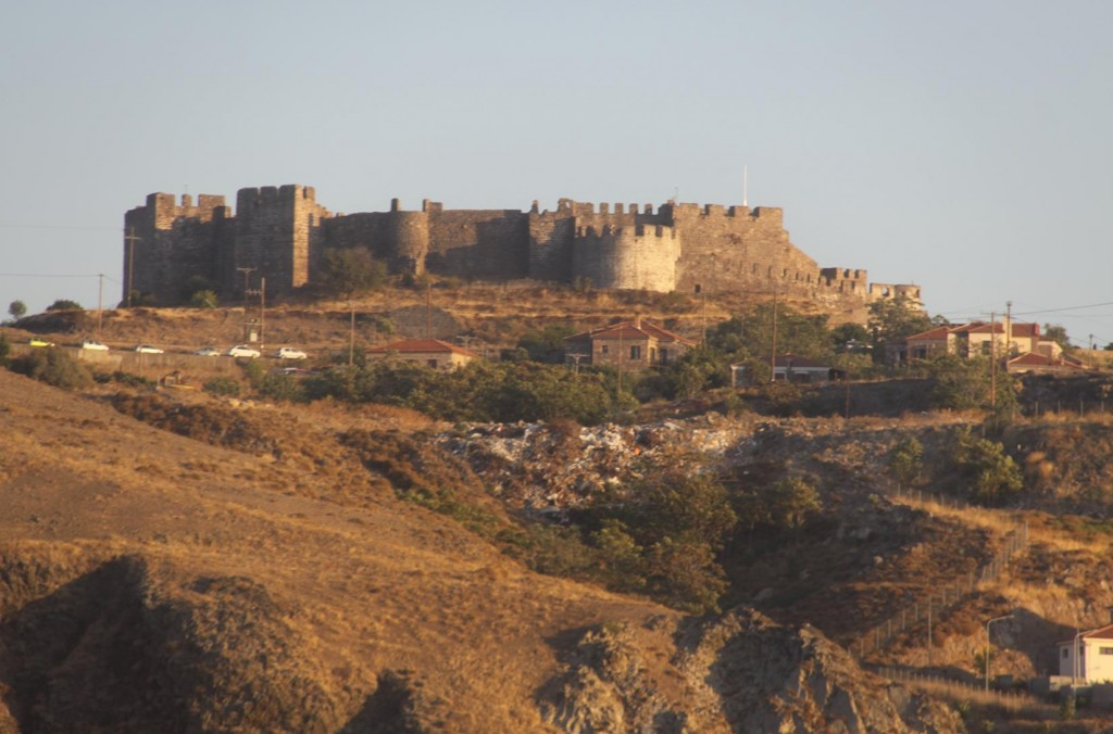 The Amazing 14th Century Castle Perched on top of the Hill Glows in the Late Afternoon Sun
