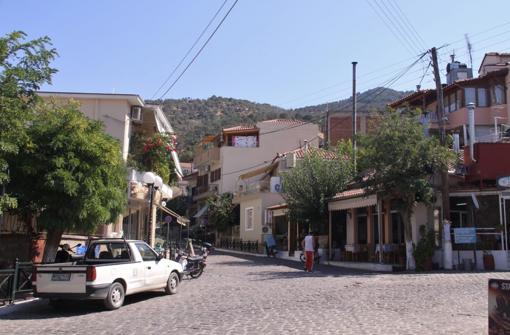 The Village Above the Harbour Relies Mainly on the Olive Industry