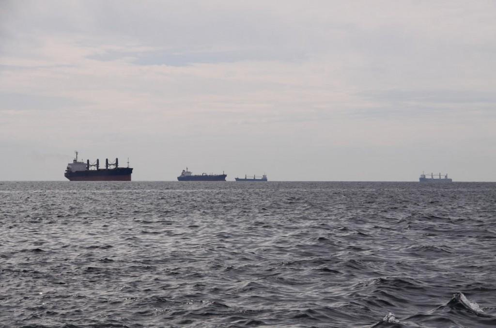 There are so Many Ships in the Marmara Sea  Near Istanbul