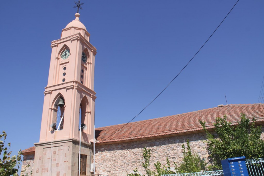 The Local Church Stands High Above the Village