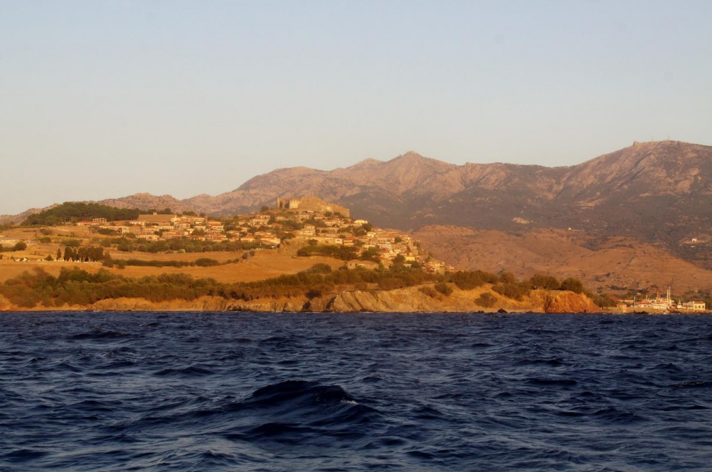 Finally Our Destination, Mithimna (Known Locally by Molyvos)  Comes into View