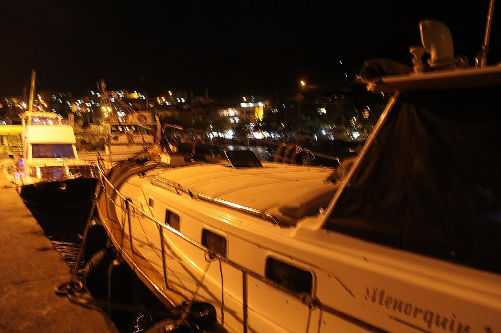 With the Help of Some Friendly Turkish Guys, we Tied the Tangaroa Along the Pier Between the Fishing Boats