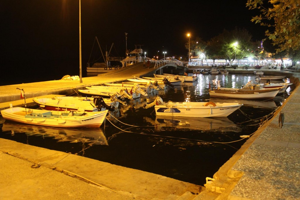 The Small Inner Port by the Restaurants