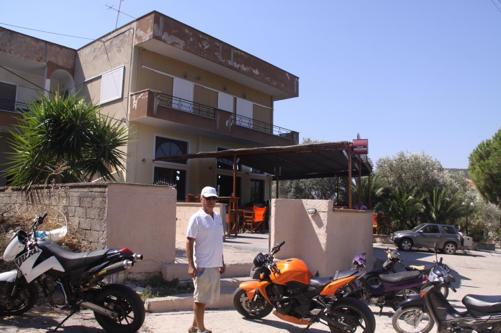We Stop for a Quick Coffee in the Local Cafe/Bar with the Impressive Machinery Outside
