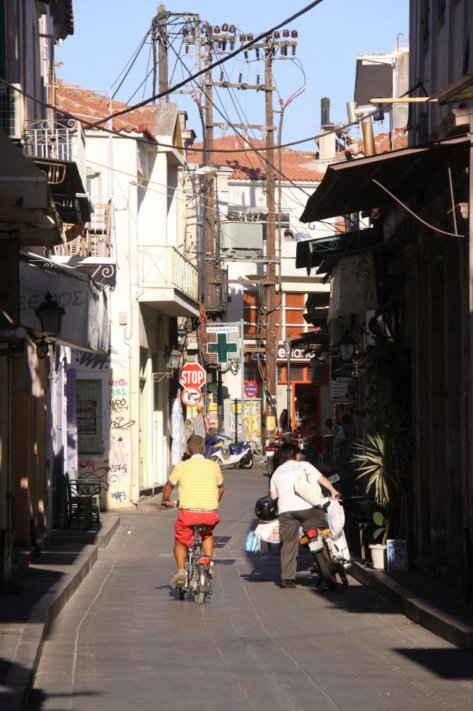 We Ride Back Through the Narrow Streets Just in Time to Prepare for Our Guests Arrival