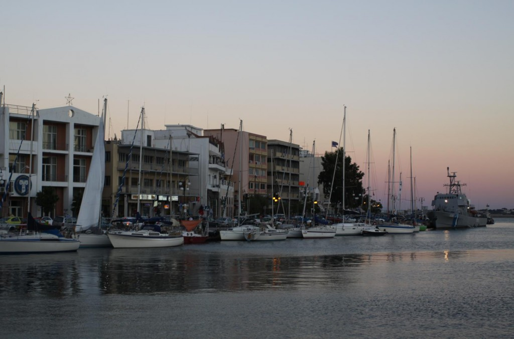 Many Other Yachts Choose to Tie Up Close to the Bars and Tavernas Along the North Pier