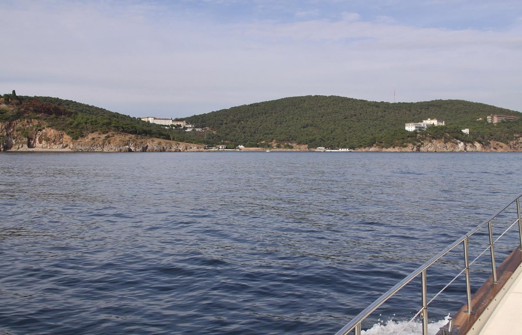 Approaching Heybeliada Island Which is one of the Princes Islands Close to Istanbul