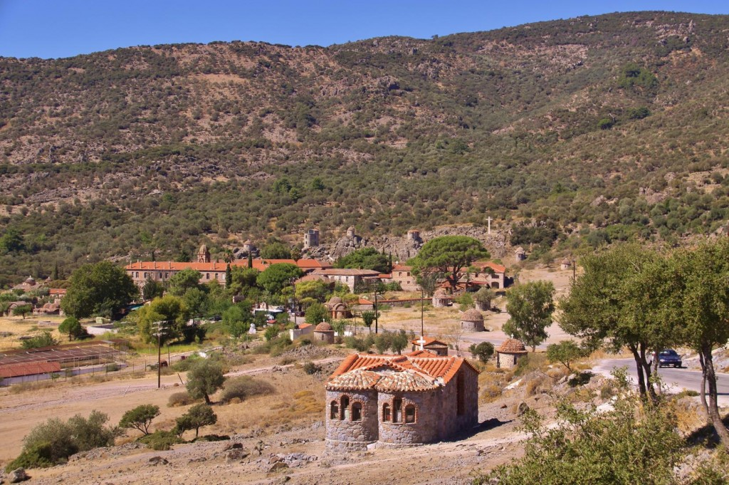 Our First Stop on the Way is the Limona Monastery Just North of Kalloni in the Centre of Lesvos Island