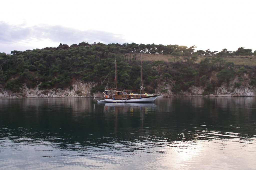 By Evening Only a Couple of Other Boats Remain in the Bay