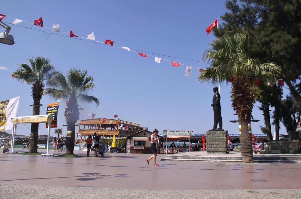 The Main Square of Ayvalik Overlooked by a Large Statue of Ataturk