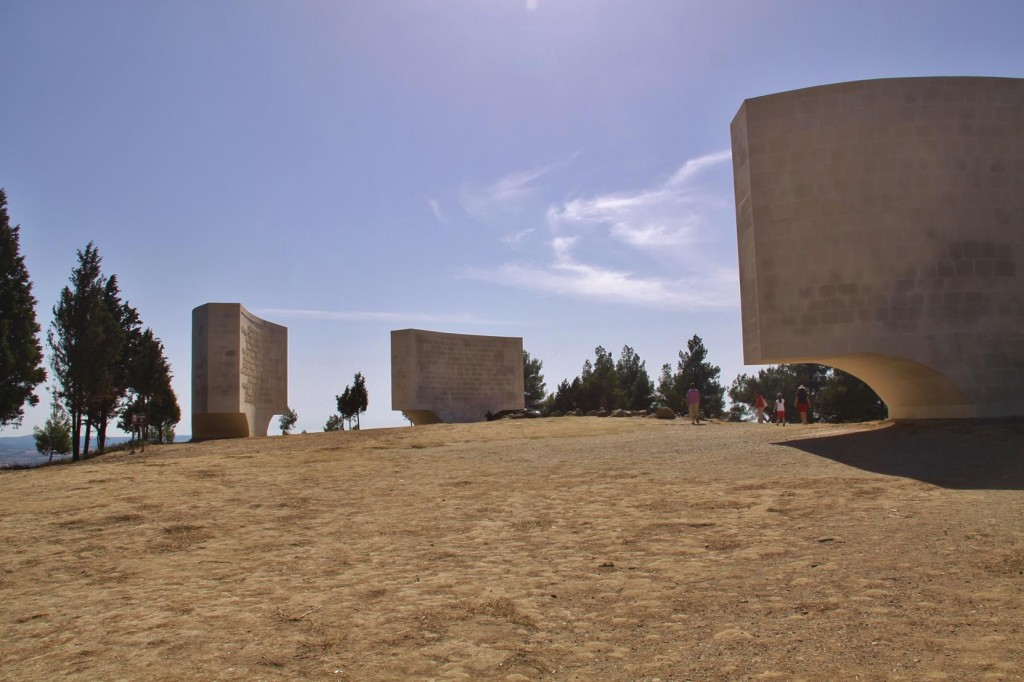 Massive Memorial  Plaques Dominate the Hillside at Chunuk Bair